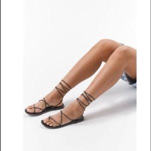 NWT UO Black Gladiator Sandals